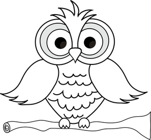 Wise Owl With Big Eyes On A ..-Wise Owl With Big Eyes On A ..-18
