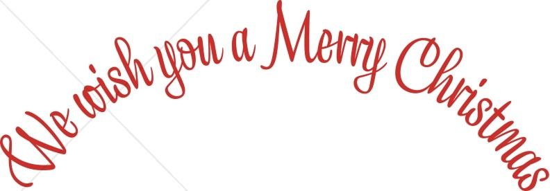 wish merry christmas wordart christmas alphabets wordart - Merry Christmas Free Clip Art