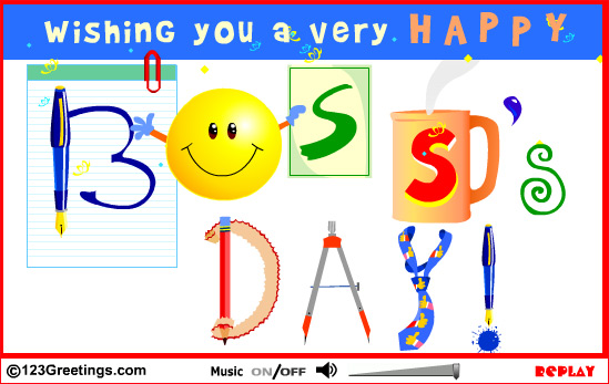 Wishing You A Very Happy Boss Day Clipart