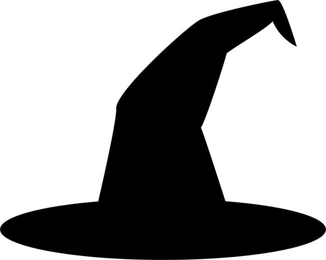 Witch Hat Stencils Spooky Halloween Deco-Witch hat stencils spooky halloween decorations clipart-17