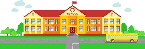 With School Building And .-with school building and .-17