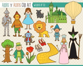 Wizard Of Oz Clip Art Color And Outlines 7 Teaching