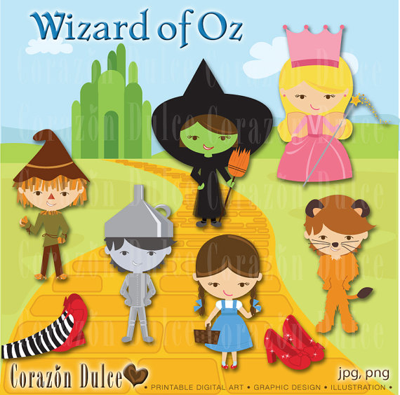 Wizard of Oz -Clip Art Set- .