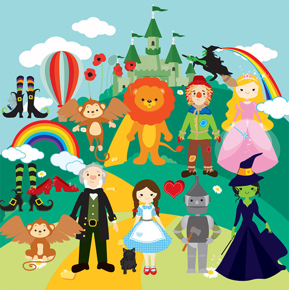 Wizard Of Oz Clipart - Clip Art Dorothy -Wizard of Oz clipart - clip art Dorothy scarecrow cowardly lion tin man wicked witch emerald castle rainbows witch shoes ruby flying monkeys-15
