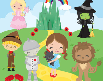 Wizard of Oz Clipart, Fairytale clipart, cute Oz clipart, red shoes clip art, storytime clipart, Commercial License Included
