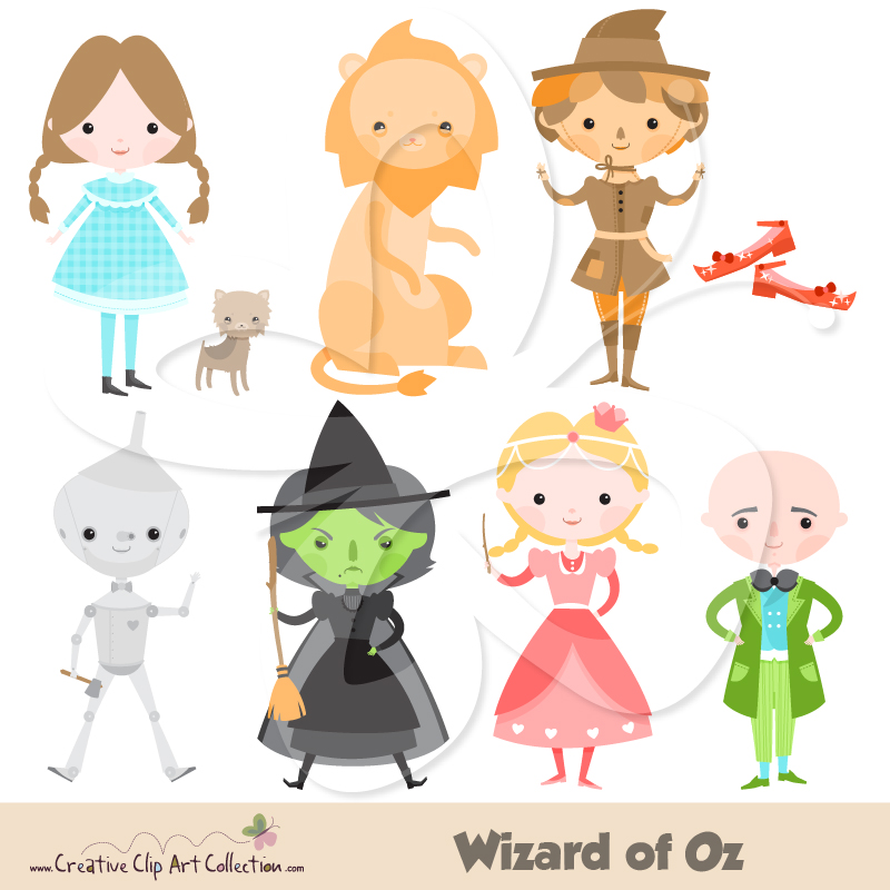 Wizard Of Oz Clipart Set Creative Clipart Collection