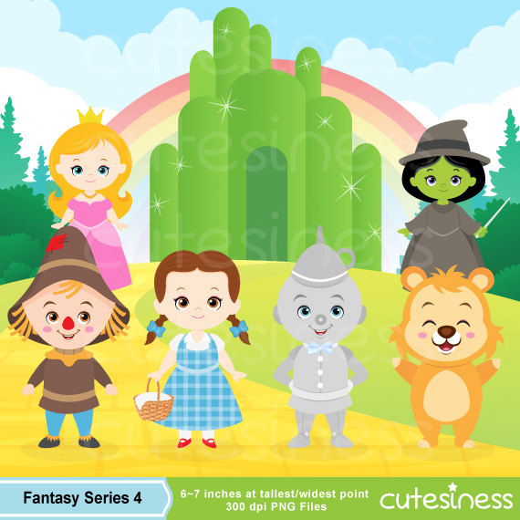 Wizard of Oz Digital Clipart, - Wizard Of Oz Clipart
