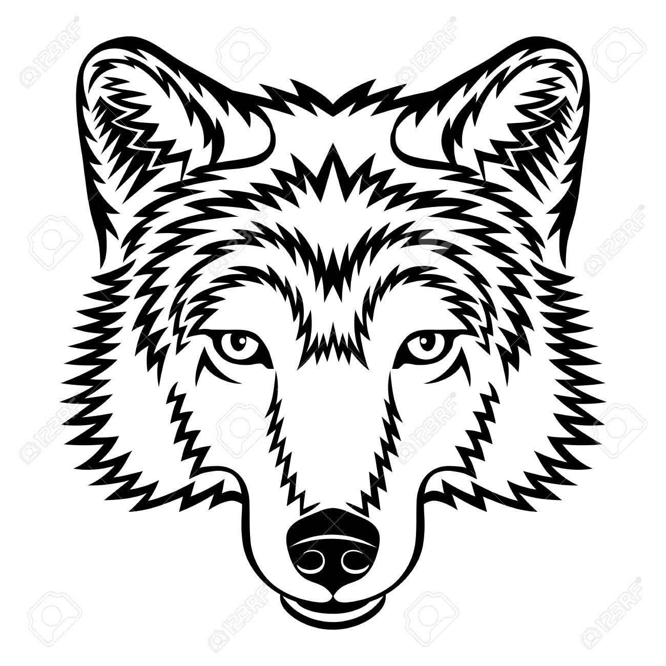 wolf head: A Wolf head in .