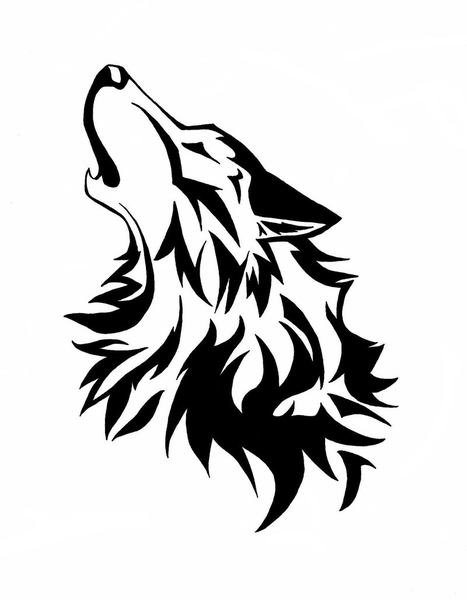 Wolf Head Cliparts-Wolf Head Cliparts-12