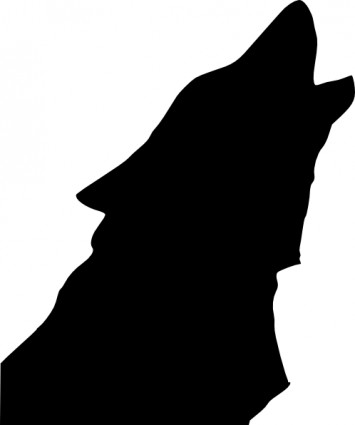 Wolf Head Howl clip art Vector clip art - Free vector for free