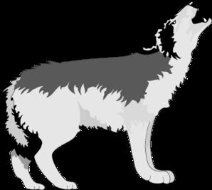 Wolf Howling Clip Art