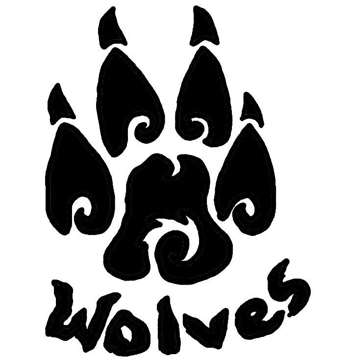Wolf Paw Clip Art. Tribal Wolf Paw Tattoos .