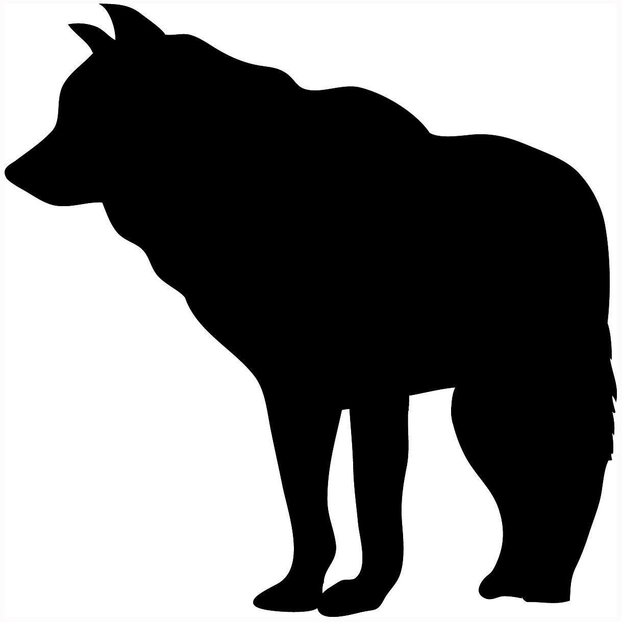 Wolf Silhouette Clip Art - Wolf Silhouette Clip Art