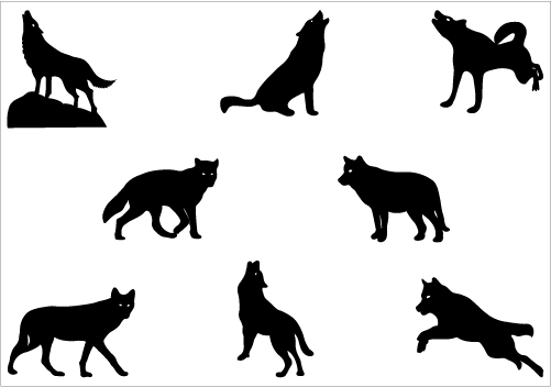 wolf silhouette Vector Graphics - Silhouette Clip Art | SCA Stuff |  Pinterest | Clip art, Graphics and Middle