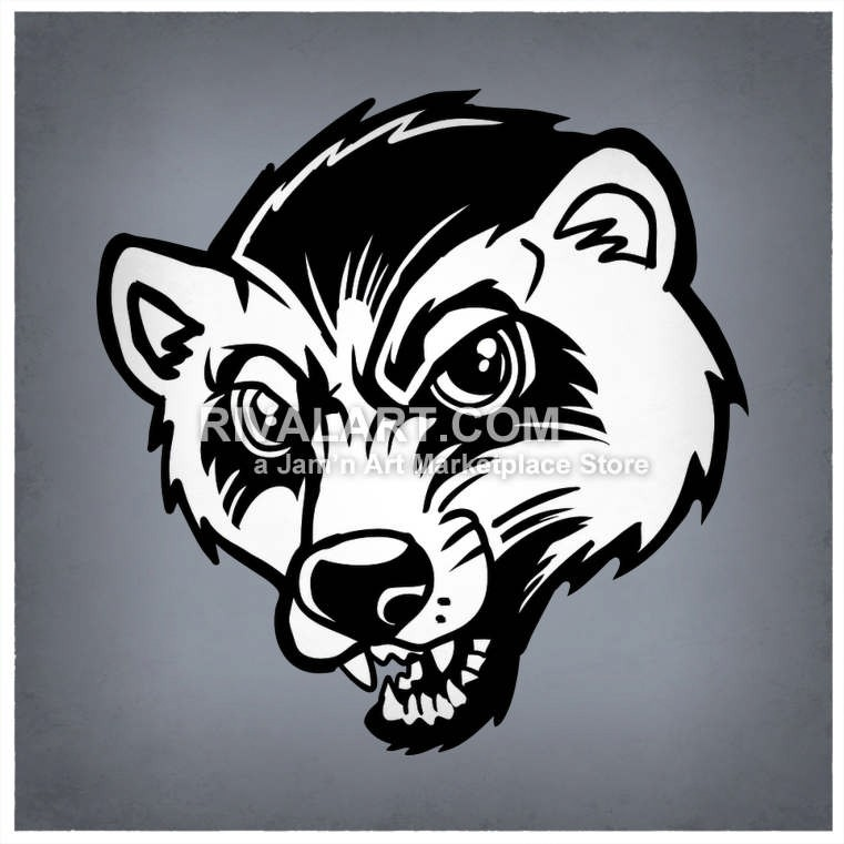 Wolverine Mascot Head.