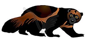 Wolverine - vector clip art. u203a