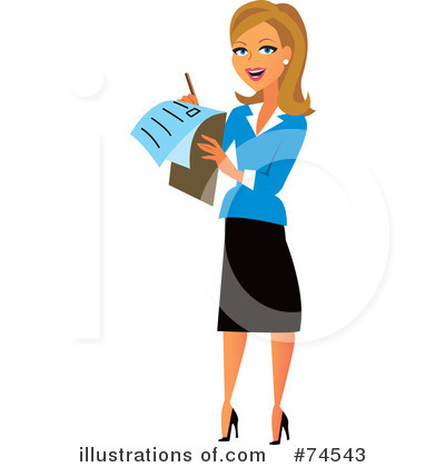 Woman Clipart 74543 By Monica Royalty Free Rf Stock Illustrations