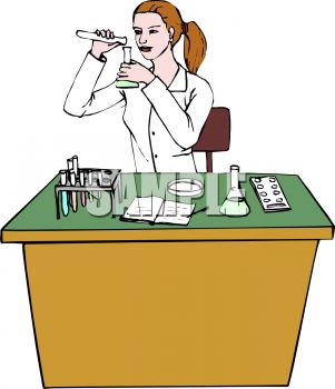 Woman Doing Chemistry Lab .-Woman Doing Chemistry Lab .-19