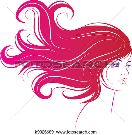 woman face with long black hair-woman face with long black hair-11