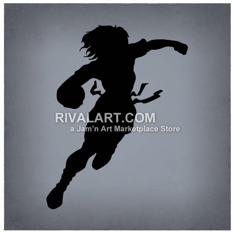 Woman Flag Football Player ... Clipart .-Woman Flag Football Player ... Clipart ...-18
