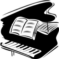 Woman grand piano notes cartoon piano cl-Woman grand piano notes cartoon piano clip art free vector 2-6