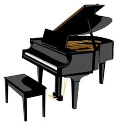 Woman grand piano notes cartoon piano cl-Woman grand piano notes cartoon piano clip art free vector-10