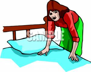Woman Making The Bed Royalty Free Clipar-Woman Making The Bed Royalty Free Clipart Picture-18