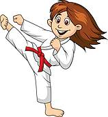 ... woman martial arts ... - Martial Arts Clipart