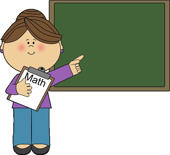 Woman Math Teacher Clip Art I - Cute Teacher Clipart