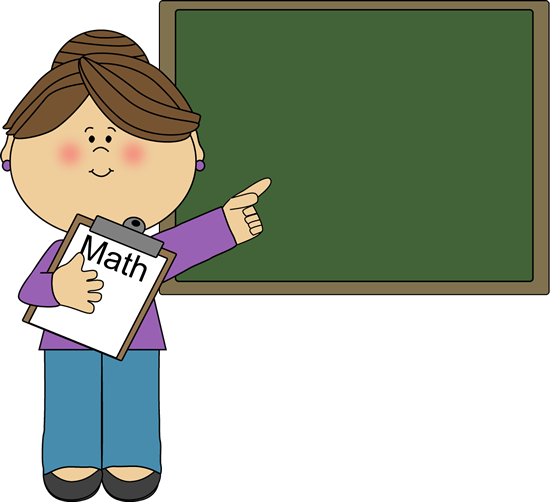 Woman Math Teacher Clip Art I - Teachers Clipart