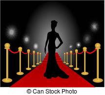 ... Woman Posing Red Carpet Vector - Vec-... Woman Posing Red Carpet Vector - Vector illustration of a.-13