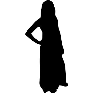 Woman silhouette clipart .