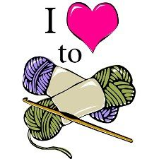 Women Crocheting Clipart. St. .