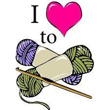 Women Crocheting Clipart. St. .