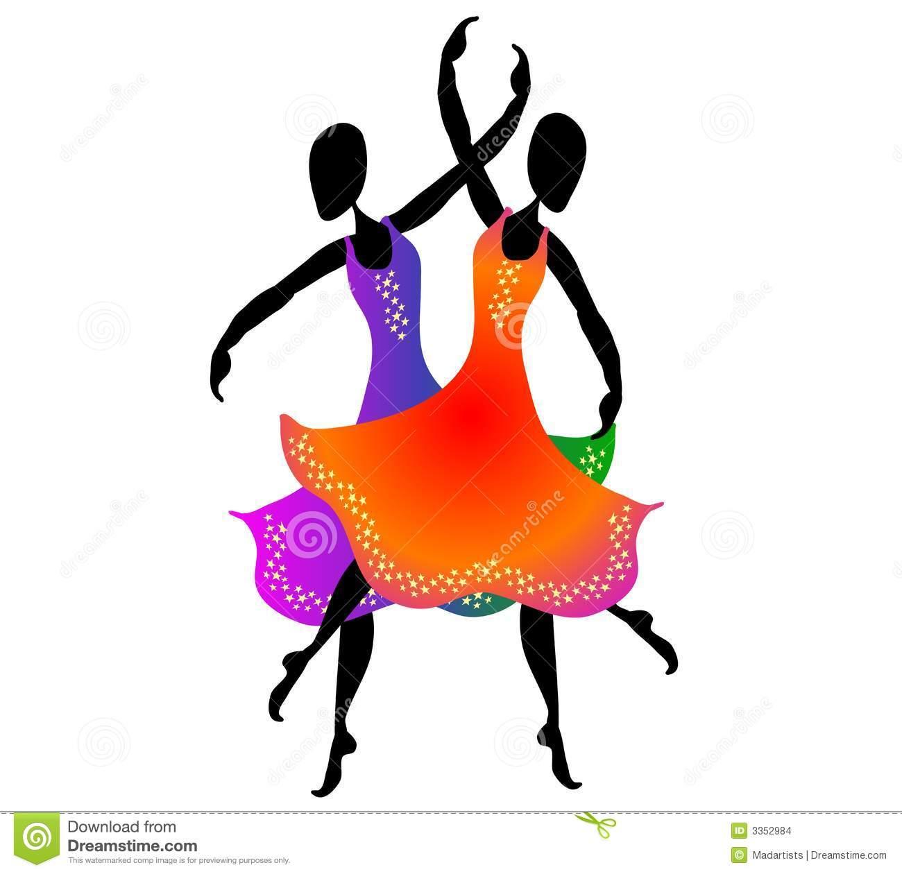 Women Dancing Clip Art 2