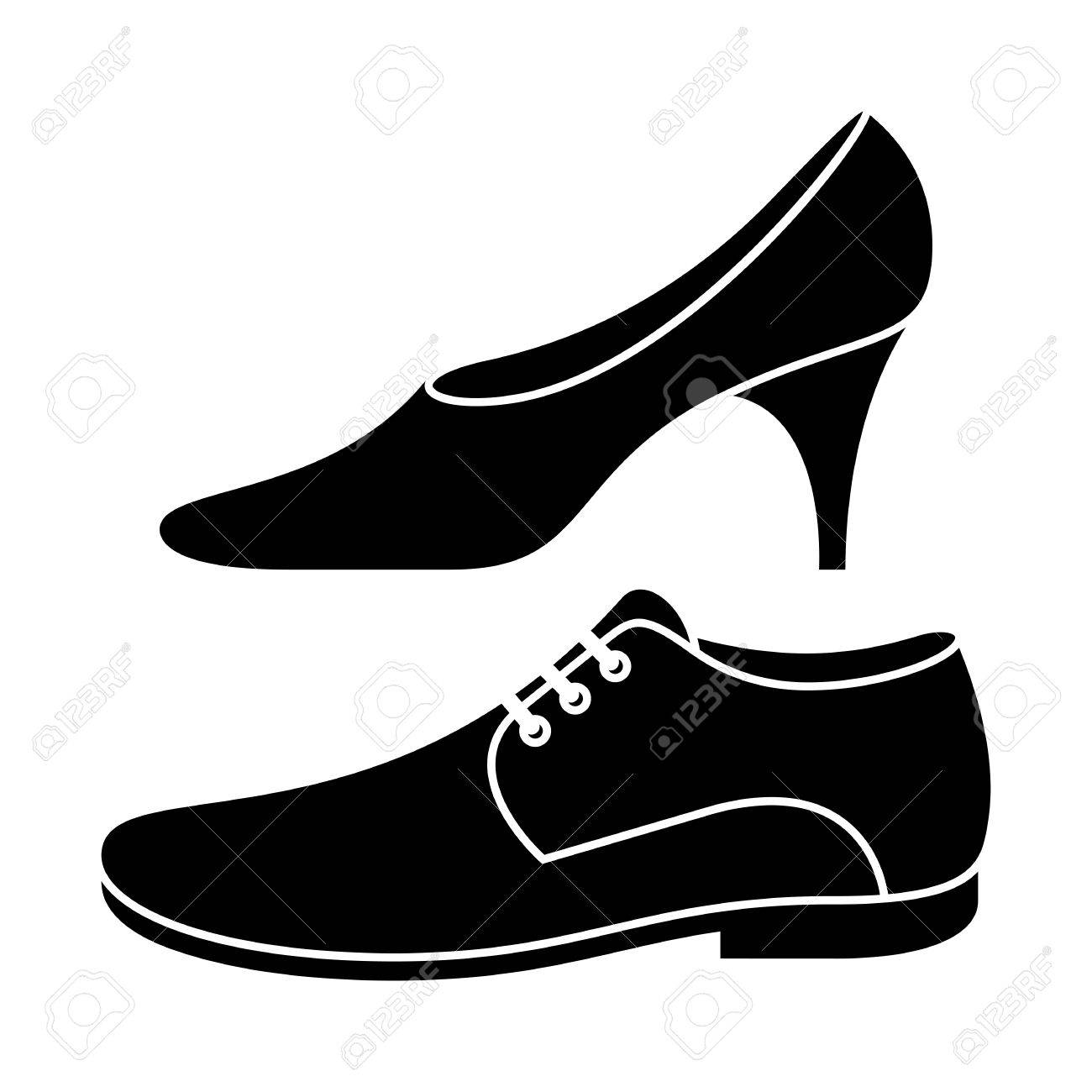 1ee05804ae0 Vector - Women and men shoe i - Women Shoes Clipart
