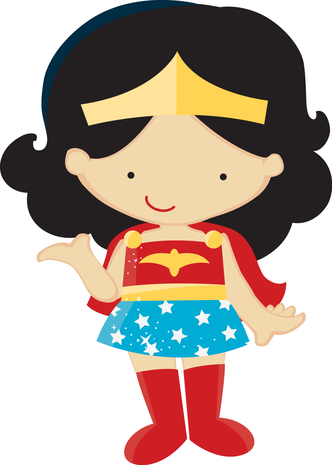 Clipart of Wonder Woman Baby in Different Styles.
