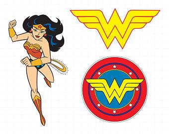 Wonder Woman clipart silhouette u2013 Wonder Woman svg u2013 Woman superhero file u2013  Wonderwoman svg u2013
