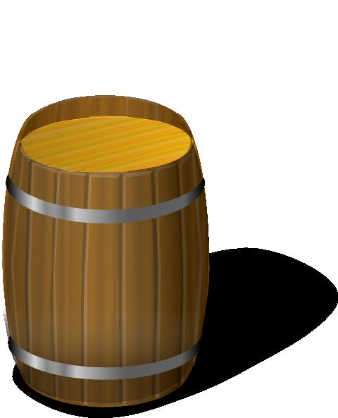 Wooden Barrel Clip Art At Clker Com Vector Clip Art Online Royalty