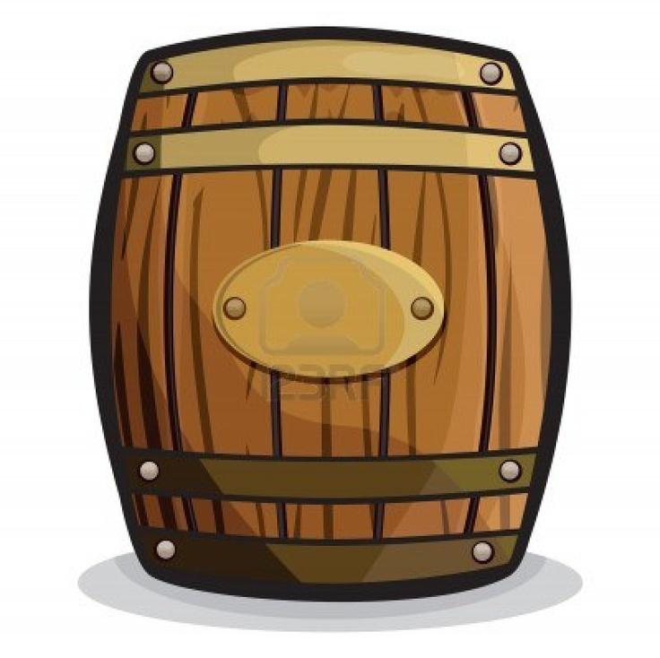 Wooden Barrel Clipart #1