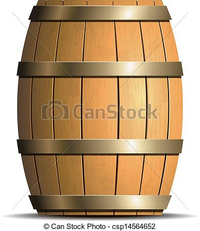 ... Wooden barrel vector