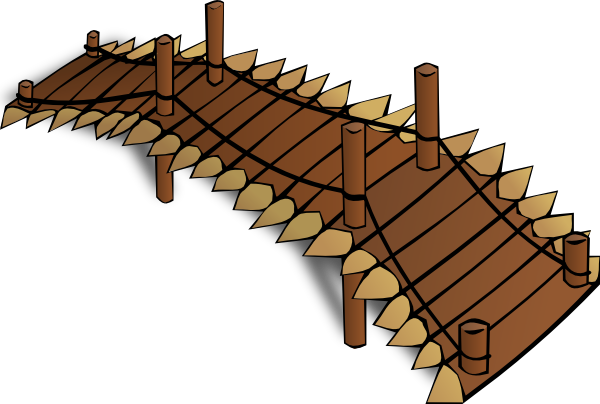 Wooden Bridge Clip Art At Clker Com Vector Clip Art Online Royalty