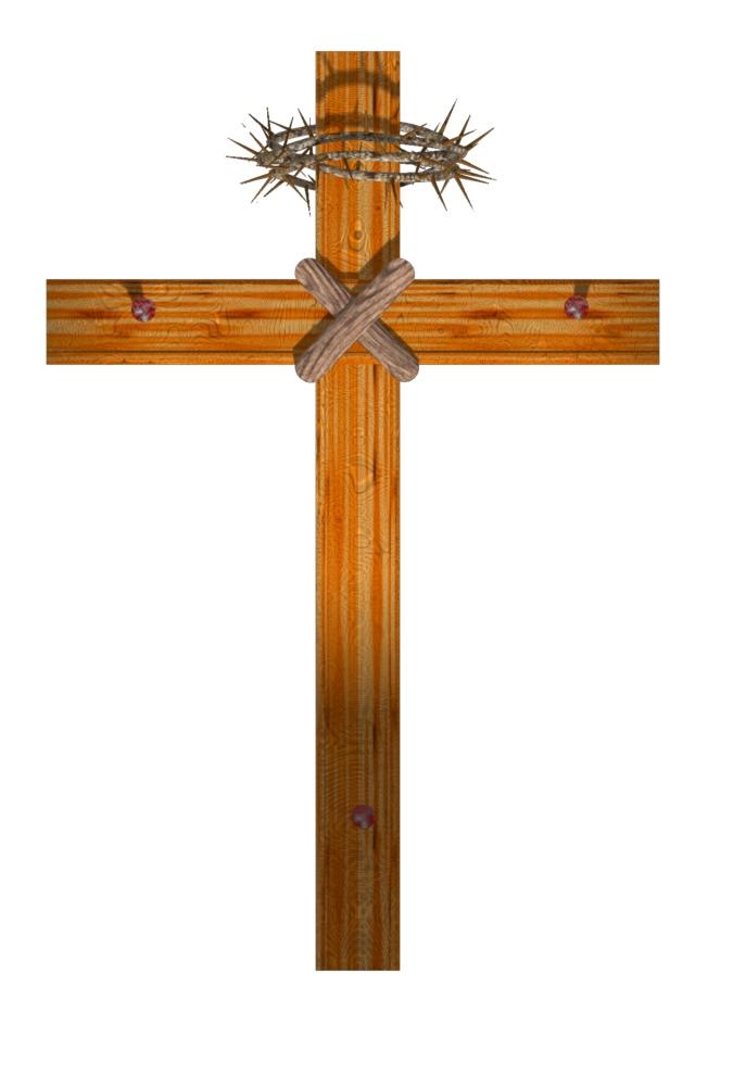 Wooden Cross Clipart .