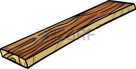 wooden plank: Cartoon Illustration of Wooden Plank or Board Clip Art