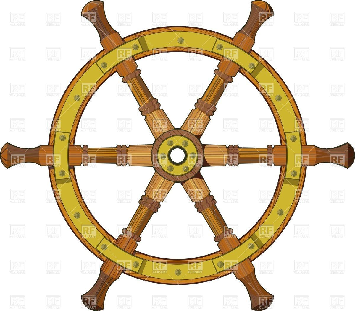 Wooden Ship Steering Wheel Download Roya-Wooden Ship Steering Wheel Download Royalty Free Vector Clipart Eps-10