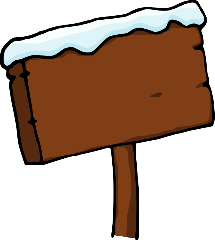 Wooden Sign Post Clip Art Free Wooden Sign Post With