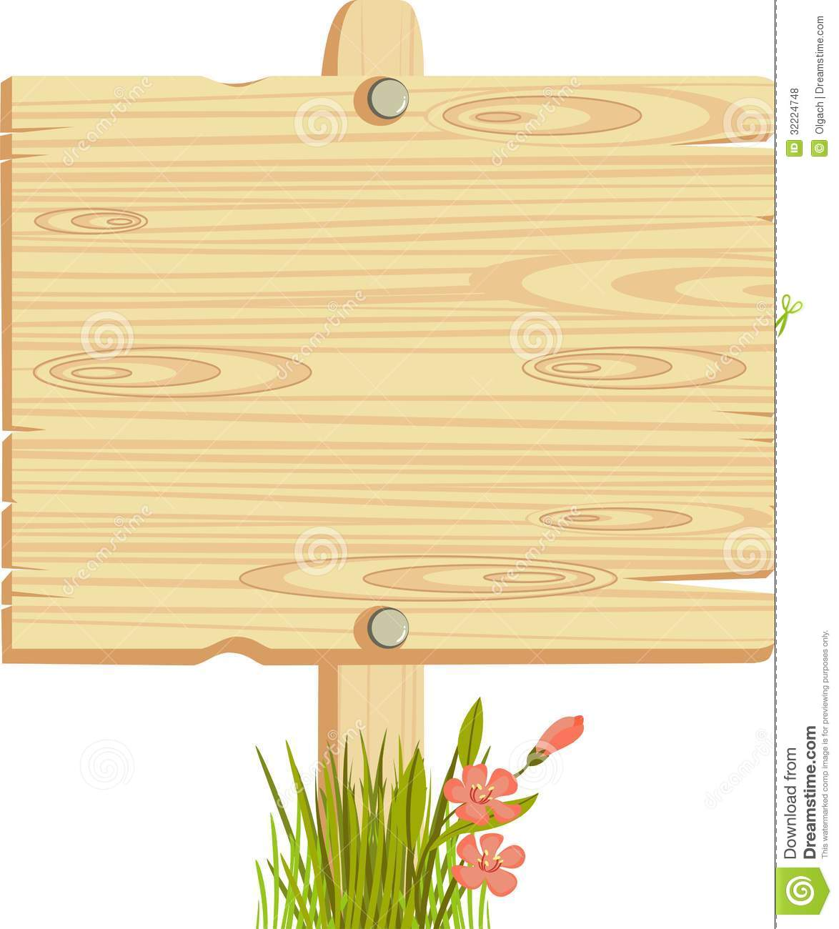 Wooden Sign Royalty Free Stoc - Wooden Sign Clipart