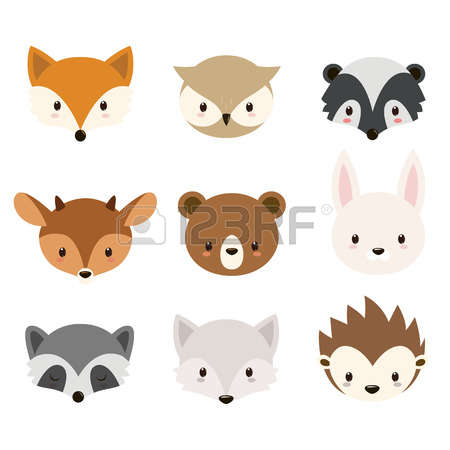 woodland animal: Cute woodlan - Woodland Animal Clipart