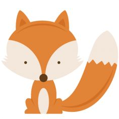 Woodland baby fox clipart