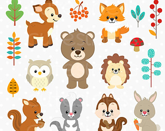 Woodland Clipart, Woodland Di - Woodland Animal Clipart